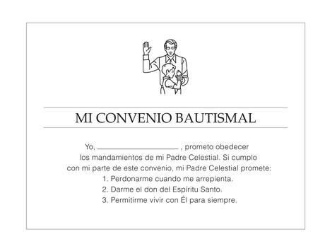 El convenio del bautismo
