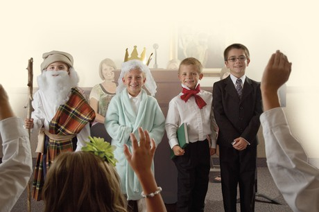 children in costumes representing prophets